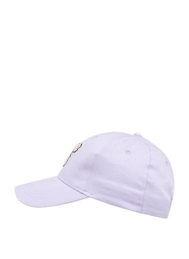 DeFacto Baskılı Renk Bloklu Şapka Mor